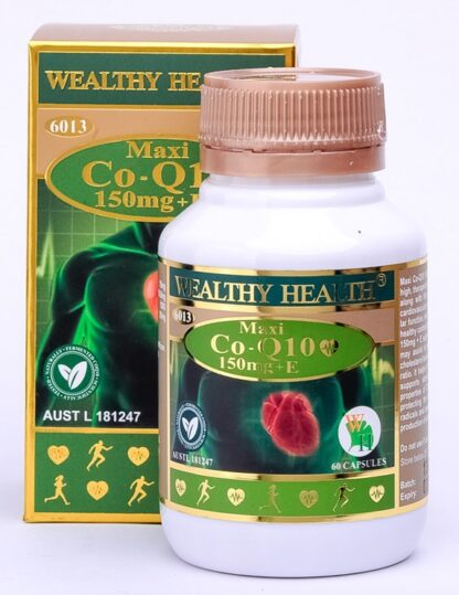 Wealthy Health Maxi Co-Q10 150mg +E